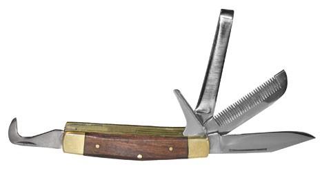 Reitermesser mit Holzgriff