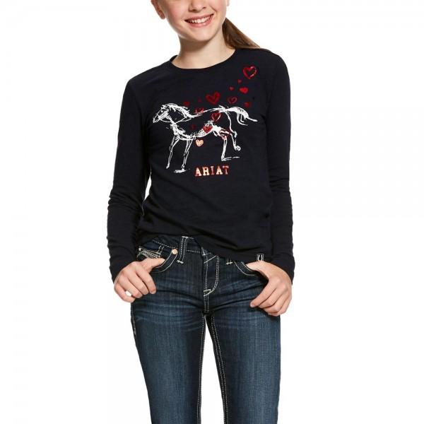 Girls-Shirt Pony Love