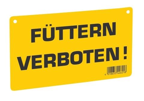 Warnschild Füttern verboten!