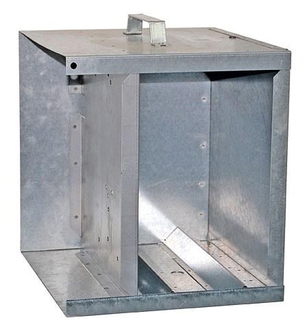 Metall-Akkukasten mit Dach