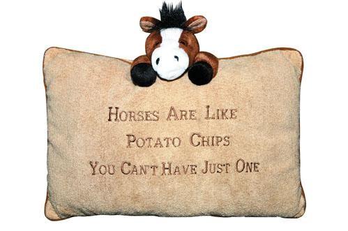 Plüschkissen -Horses are like