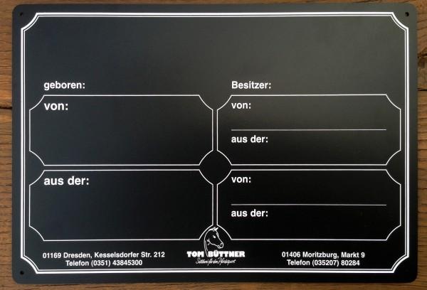 Stalltafel Tom Büttner